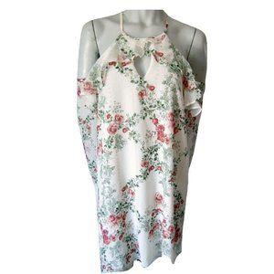 BCBG Generation Rosebud Off the Shoulder Dress M